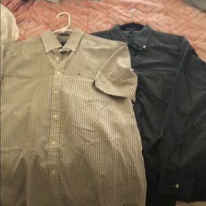 Tommy Hilfiger long and short sleeve button up.